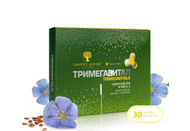 Trimegavitals - Siberian linseed oil and omega-3 concentrate